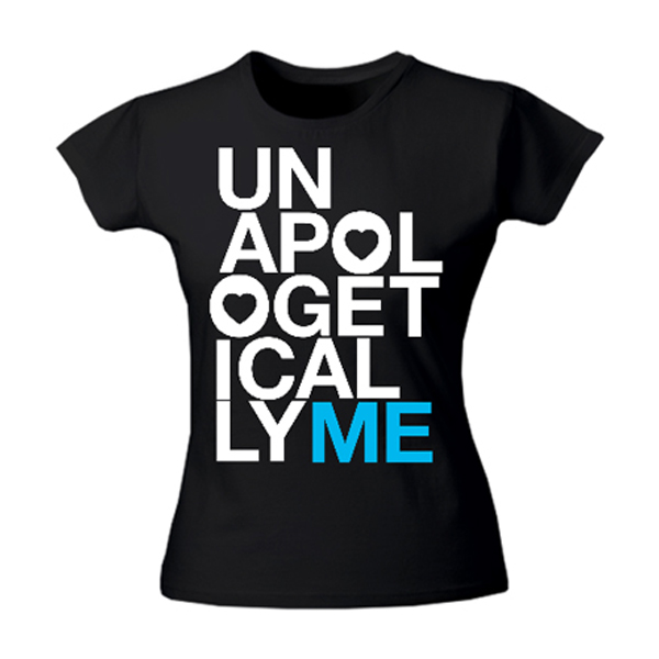 black unapologetically me t-shirt