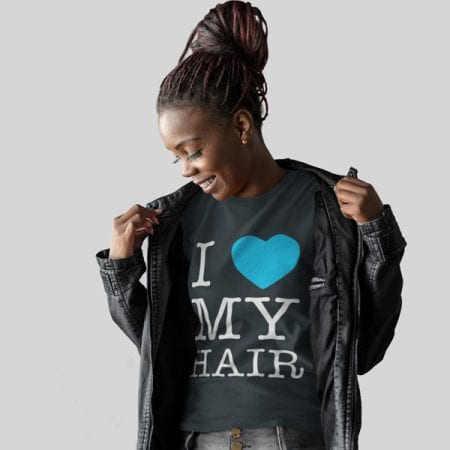 I Love My Hair Tshirt Model
