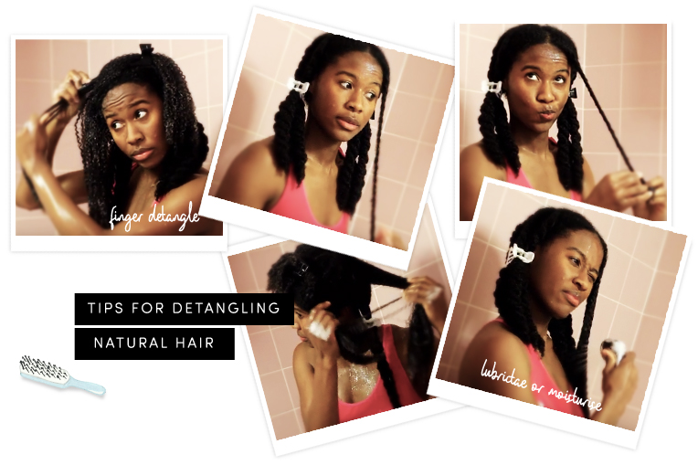 Tips for detangling natural hair